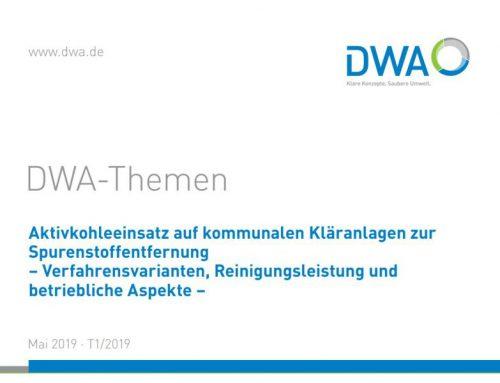 """DWA Themenband """"Aktivkohleeinsatz auf kommunalen Kläranlagen"""" veröffentlicht"""